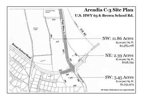 Arcadia at US Highway 63 and Brown School Road